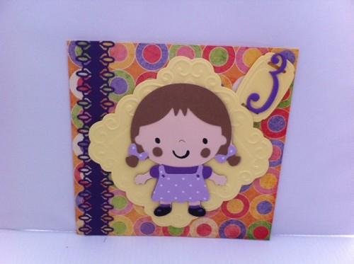 Kaart Kind Verjaardag 3 Jaar Fracor Creaties Voor Mooie Handgemaakte
